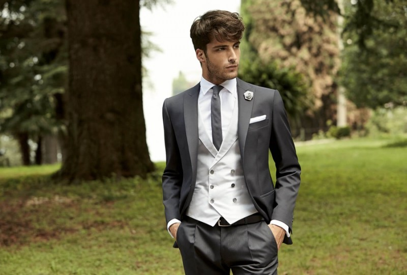 Janice Fronimakis embraces shades of grey for a debonair formal look from 1911 Lubiam Ceremony.
