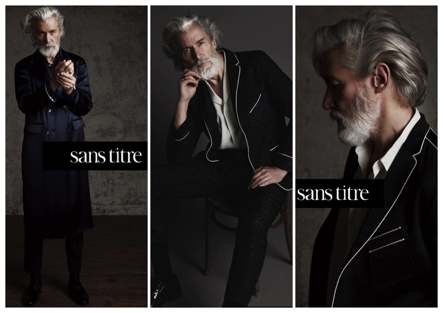 Aiden Brady Gives Us Grey Hair Envy in Striking Sans Titre Campaign