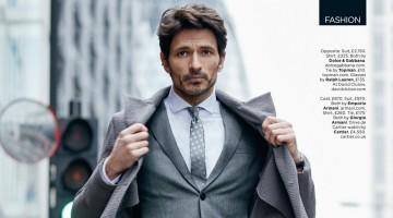 Andres Velencoso Segura Cuts a Sartorial Figure for British GQ