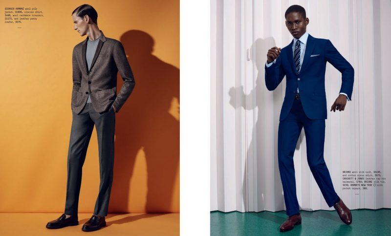 Left To Right All Clothes And Shoes Giorgio Armani Brioni Suit Shirt