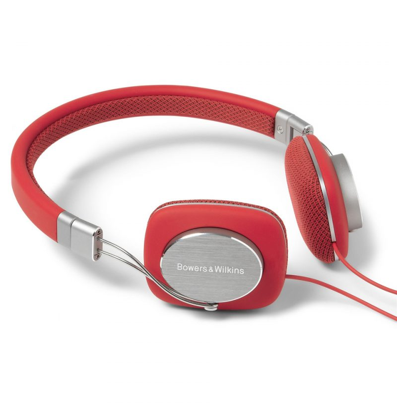 Bowers & Wilkins Foldable Red Headphones