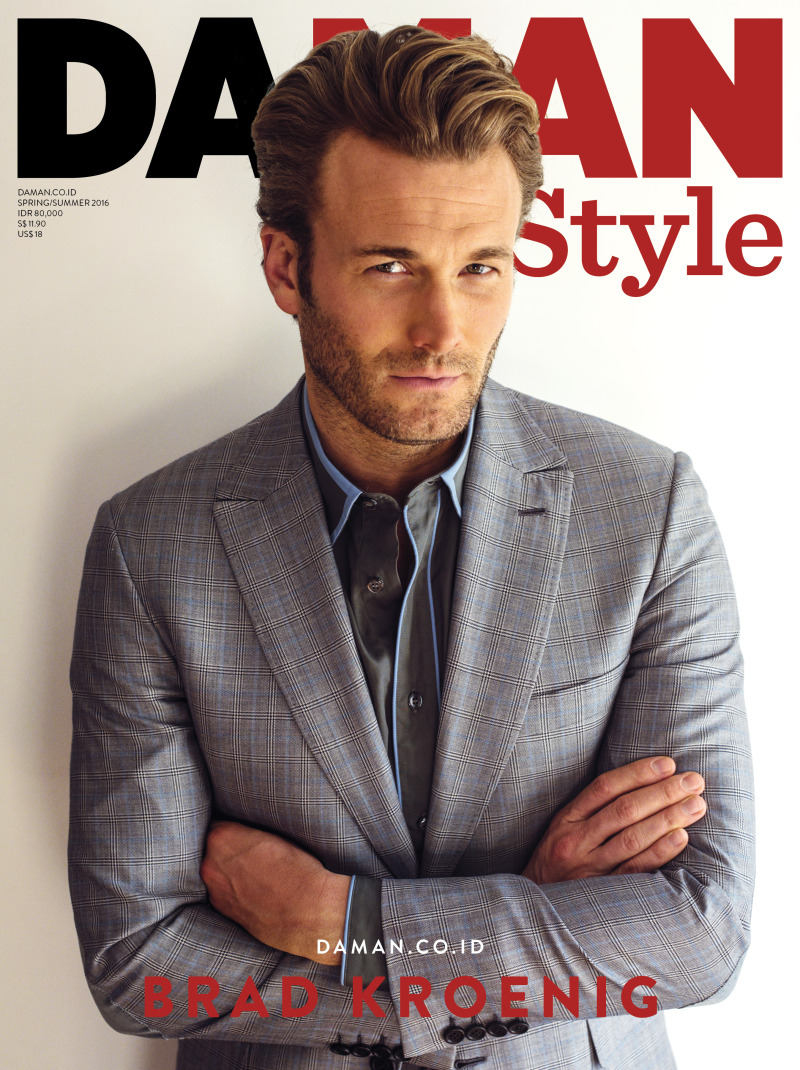 Brad Kroenig covers the spring-summer 2016 issue of Da Man Style.