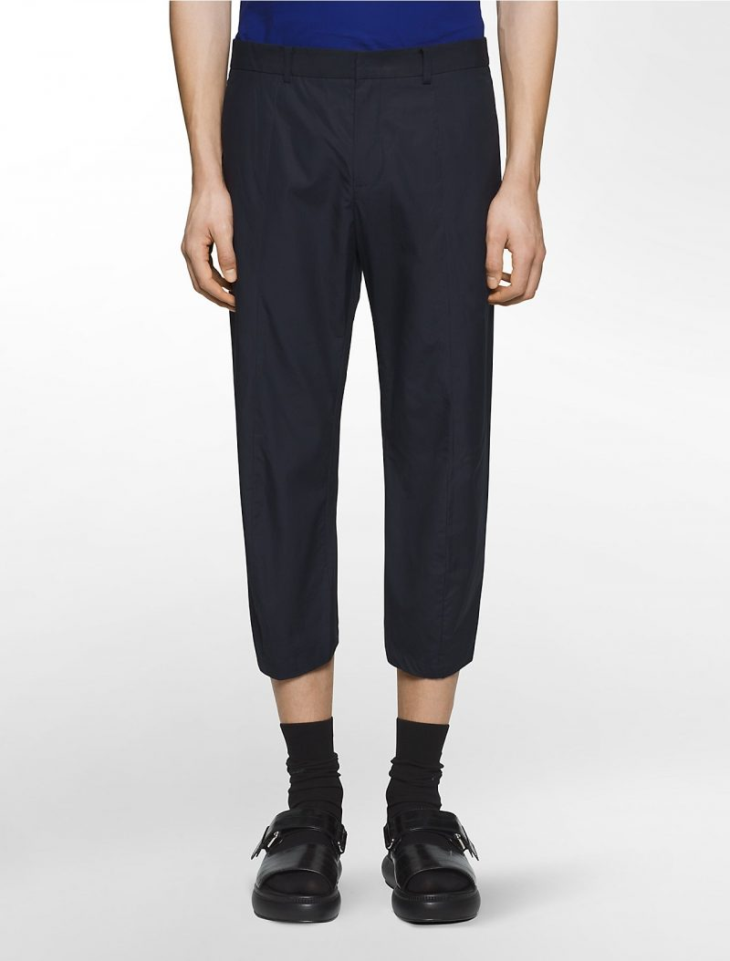 Calvin Klein Platinum Cropped Trousers