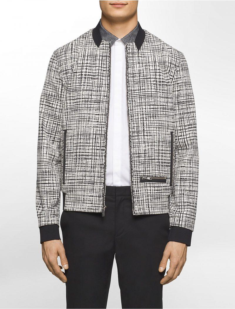Calvin Klein Platinum Tech Print Bomber Jacket