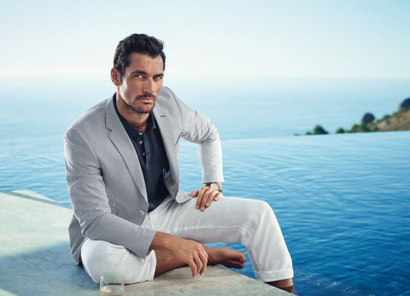 69775ade8de10 David Gandy photographed by Tomo Brejc for Marks & Spencer's spring-summer  2016 campaign.