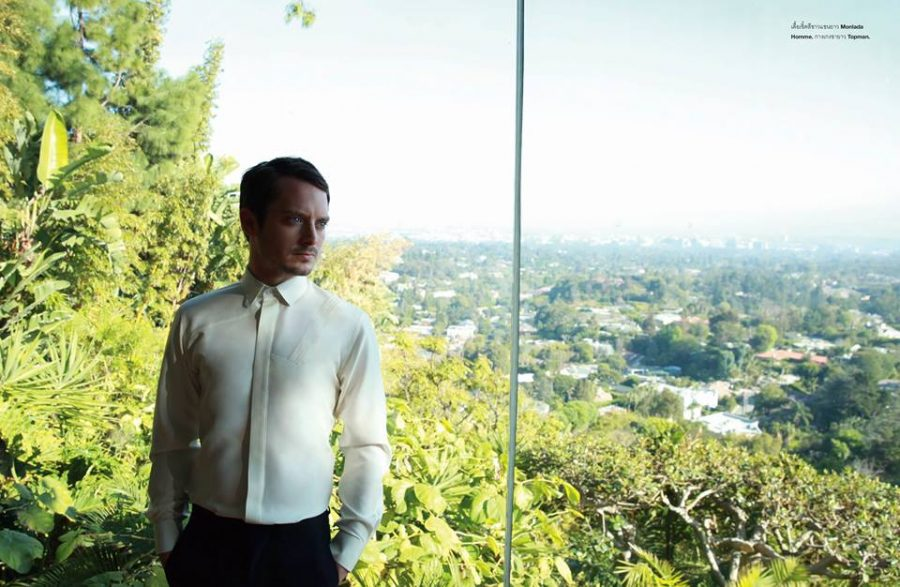 Elijah Wood dons Monlada Homme and Topman for the pages of Numéro Homme Thailand.