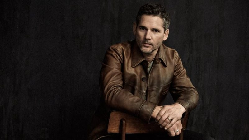 Eric Bana photographed by Derek Henderson in a RRL leather jacket for Mr Porter.