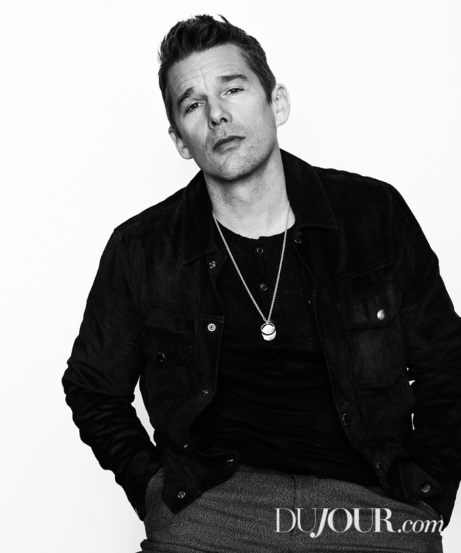 Ethan Hawke Poses for DuJour, Talks 'Born to Be Blue'