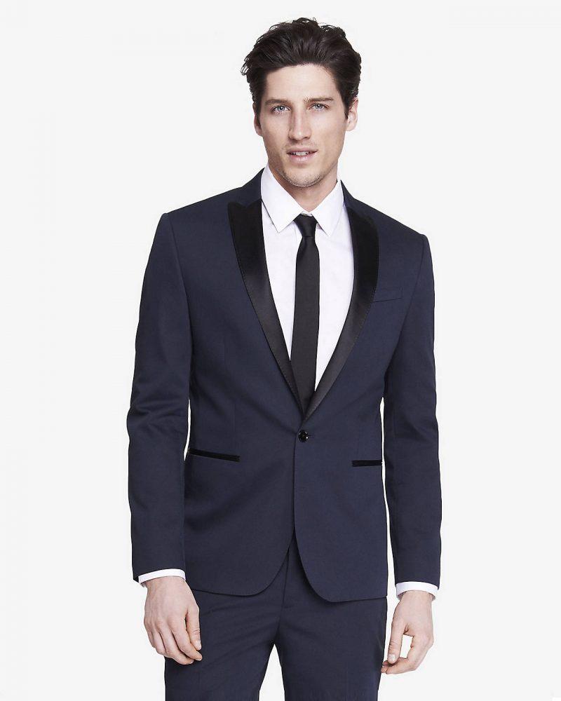 Express Midnight Blue Tuxedo