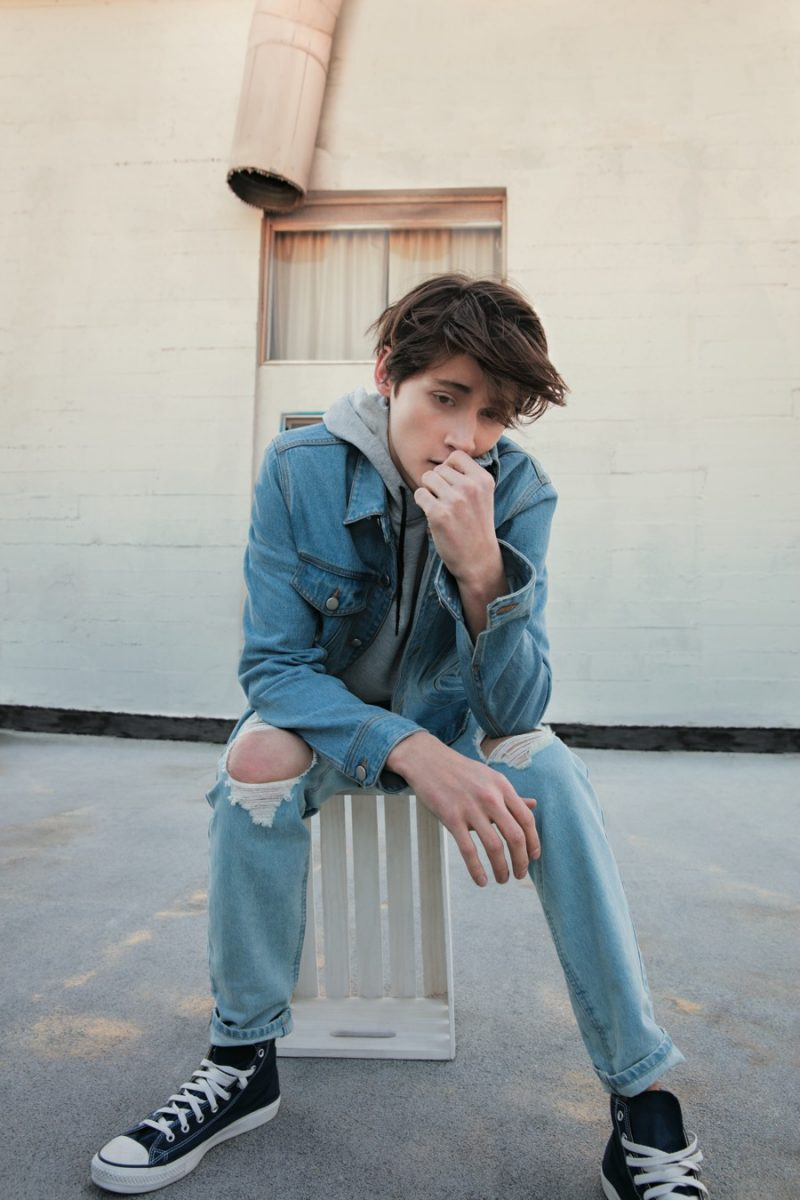 Double Denim: Forever 21 rounds up men's essentials such as the denim jacket and jeans, ripped at the knees.