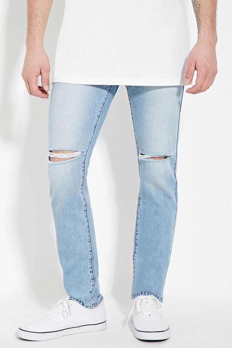 Forever 21 Men Distressed Slim-Fit Jeans