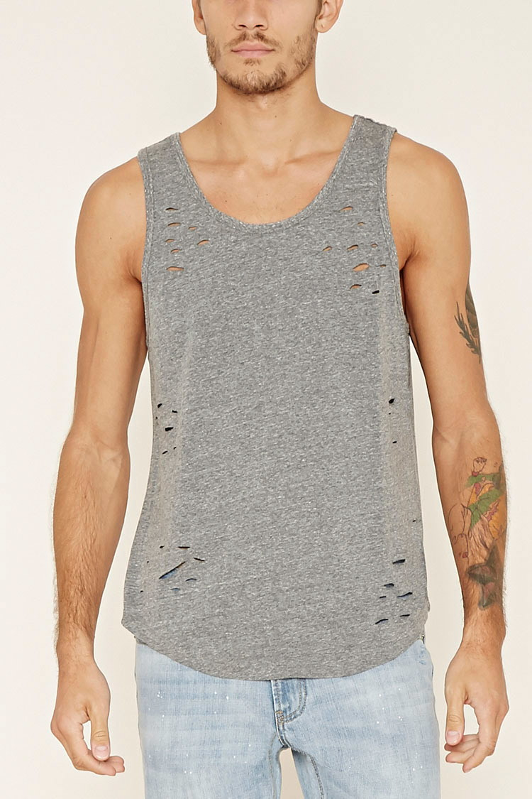 Forever 21 Distressed Tank