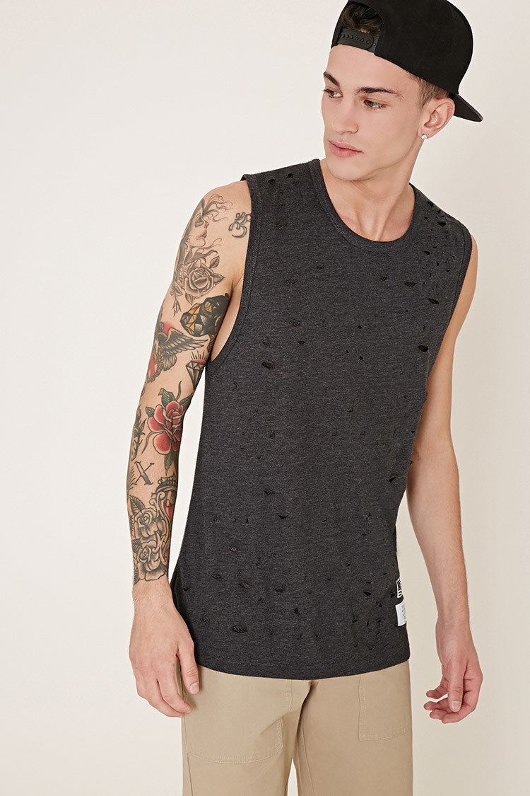 Reason Destroyed Muscle Tee from Forever 21