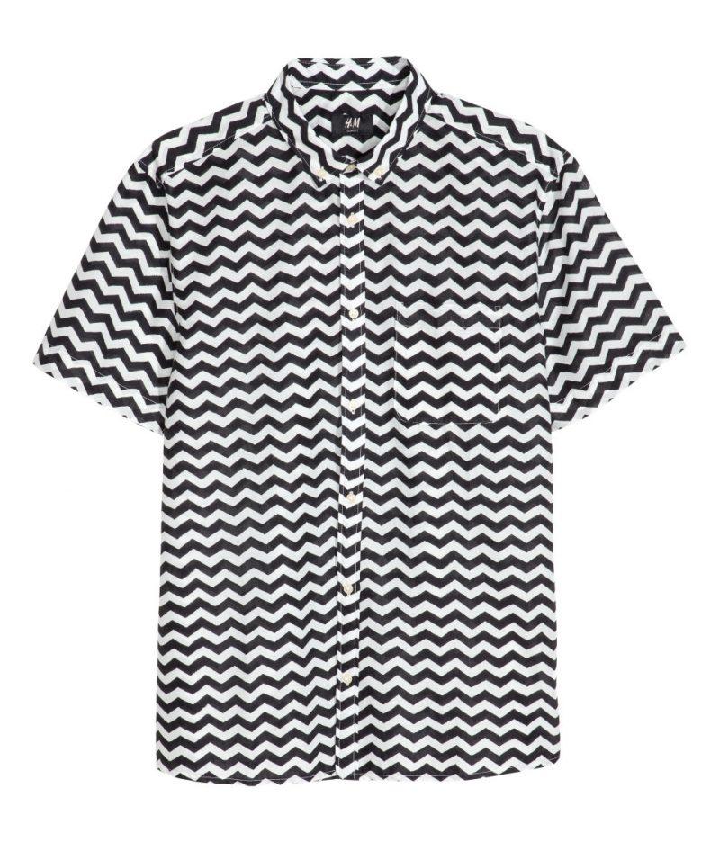 H&M Short-Sleeve Zig Zag Shirt