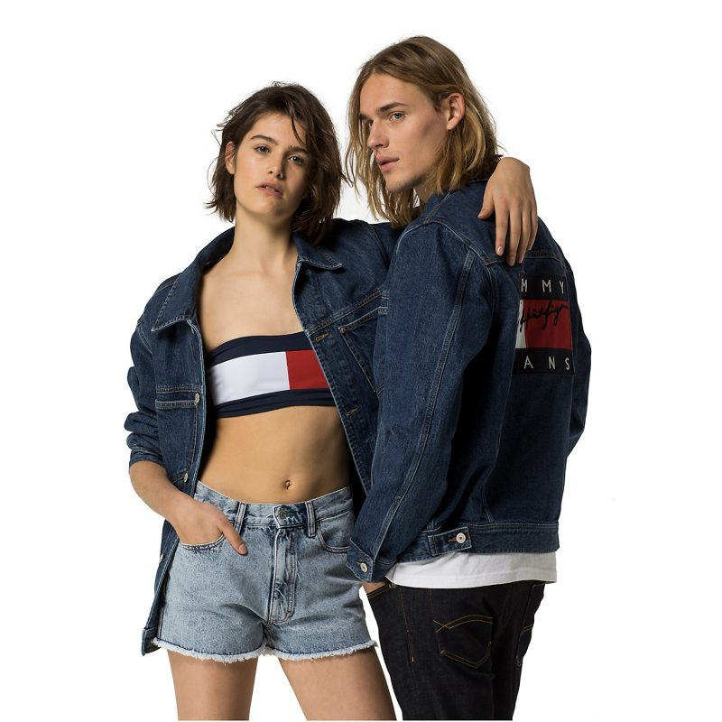 Hilfiger Denim Tommy Jeans Unisex Flag Denim Jacket