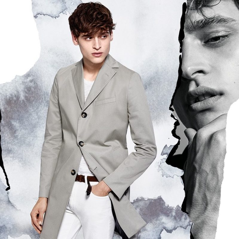 Matthijs Meel is front and center in modern neutrals for J.Lindeberg's spring-summer 2016 campaign.