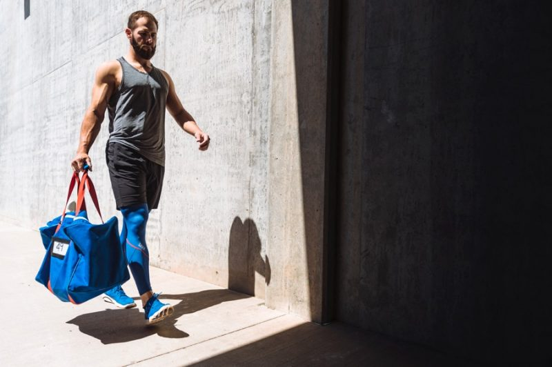Preparing for an epic workout, Jake Arrieta embraces active apparel from SAXX.