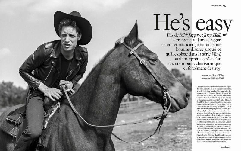 James Jagger photographed by Bruce Weber for Vogue Hommes Paris.