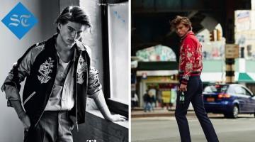 Jordan Barrett Models 50s Inspired Fashions for The Sunday Telegraph