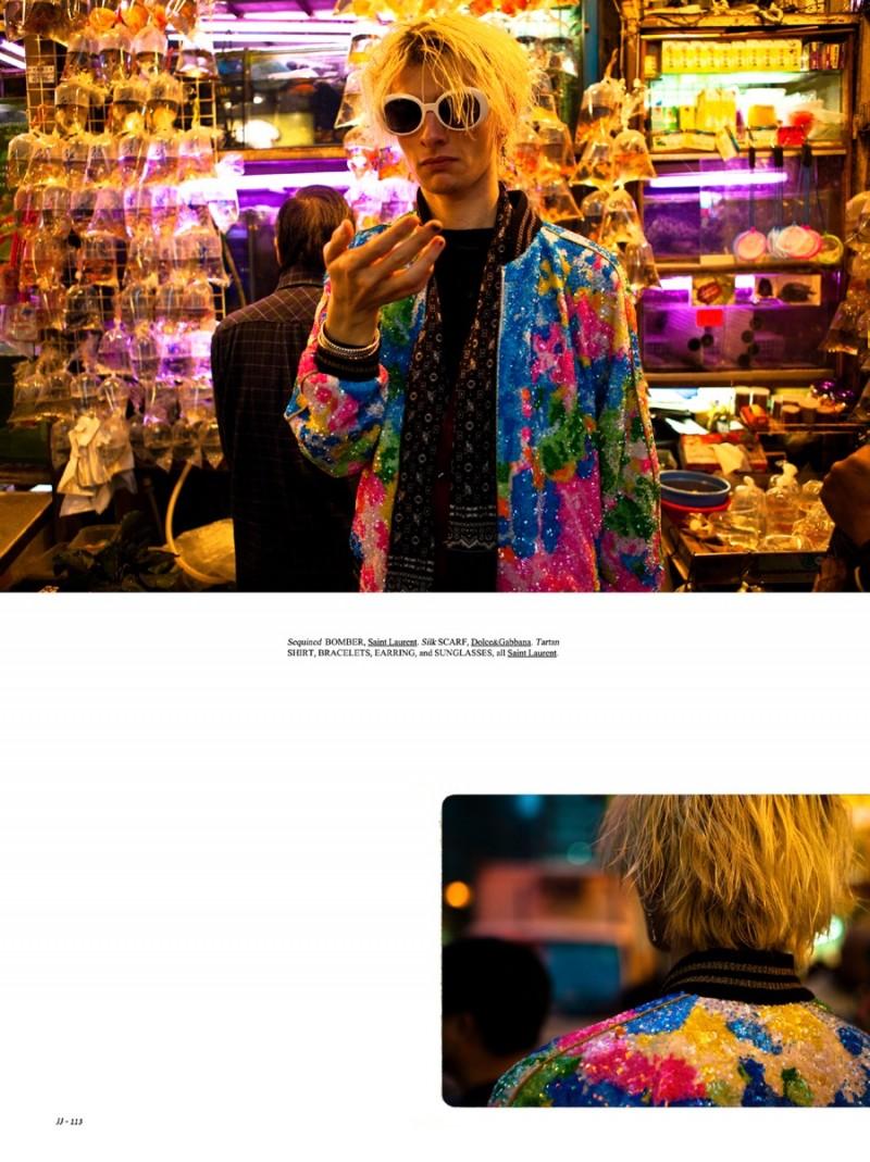 Ivan Claudiu Vlad embraces a stylish acid trip, courtesy of Saint Laurent.
