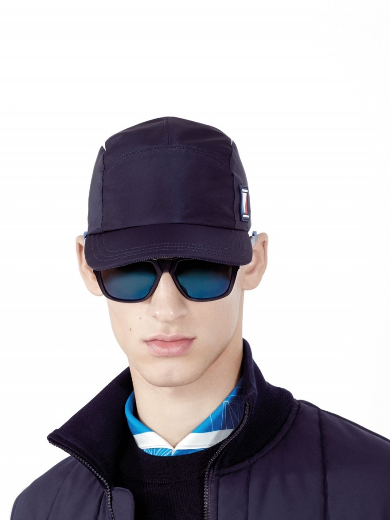 David Trulik models a cap and sunglasses from Louis Vuitton's America's Cup Collection.