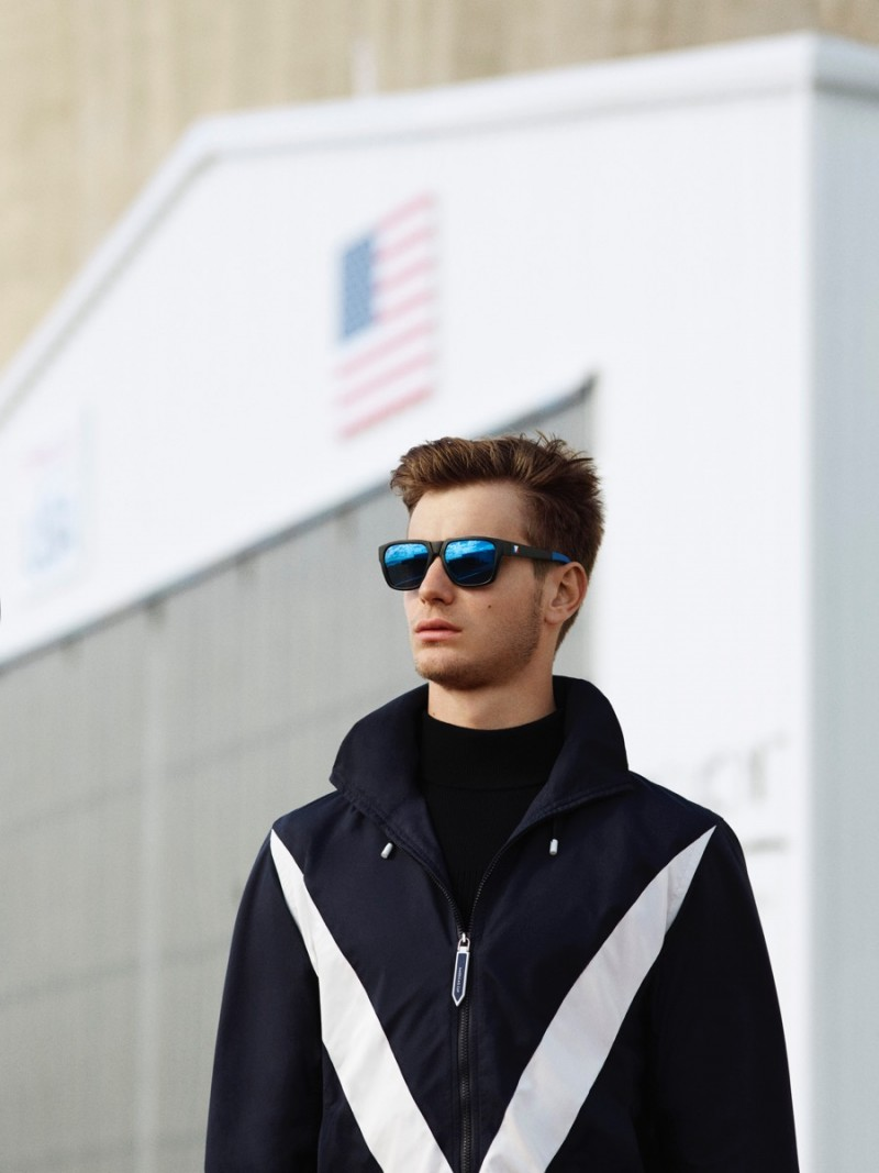 Ben Allen heads outdoors for Louis Vuitton's chic America's Cup Collection.