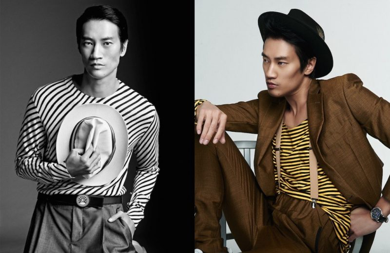 Philip Huang embraces stripes for chic images captured by photographer Raul Docasar.