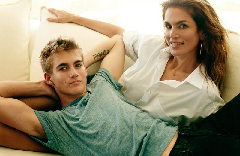 Presley Gerber joins his mother and legendary supermodel Cindy Crawford for a story in Vogue Paris.