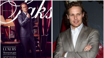 Sam Heughan Covers Saks' Catalogue