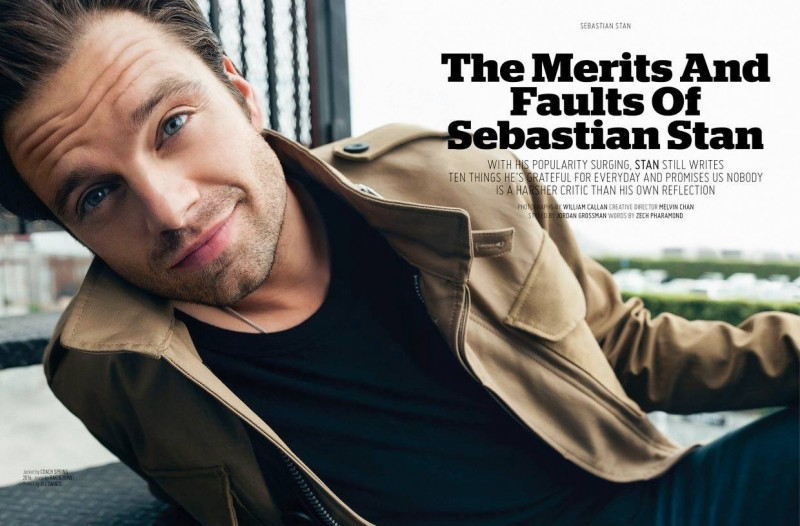 Sebastian Stan photographed by William Callan for August Man Malaysia.