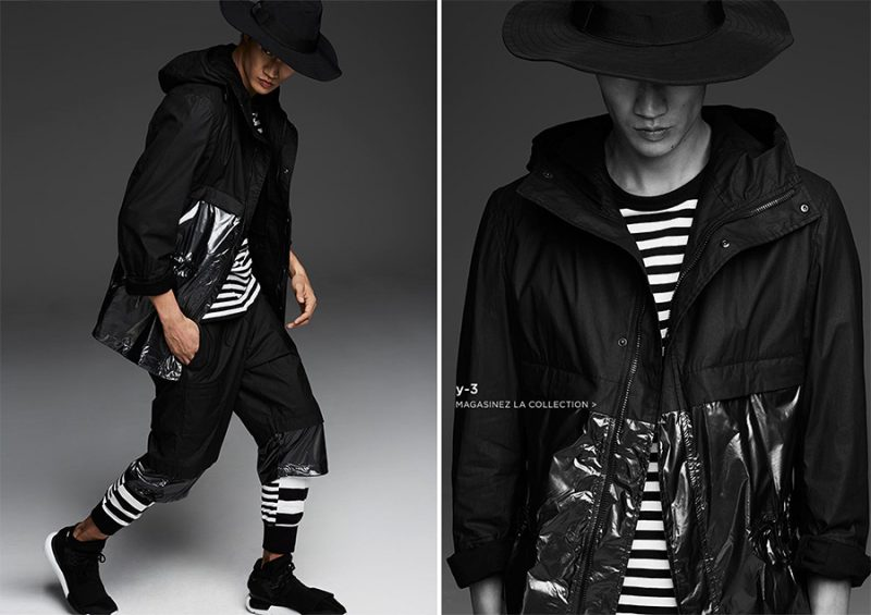 Philip Huang embraces the sporty vision of Y-3 designer Yohji Yamamoto.