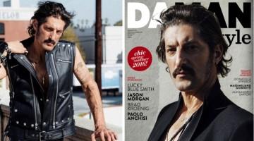 Tony Ward Rocks Leather & Black for Da Man Style Cover Story