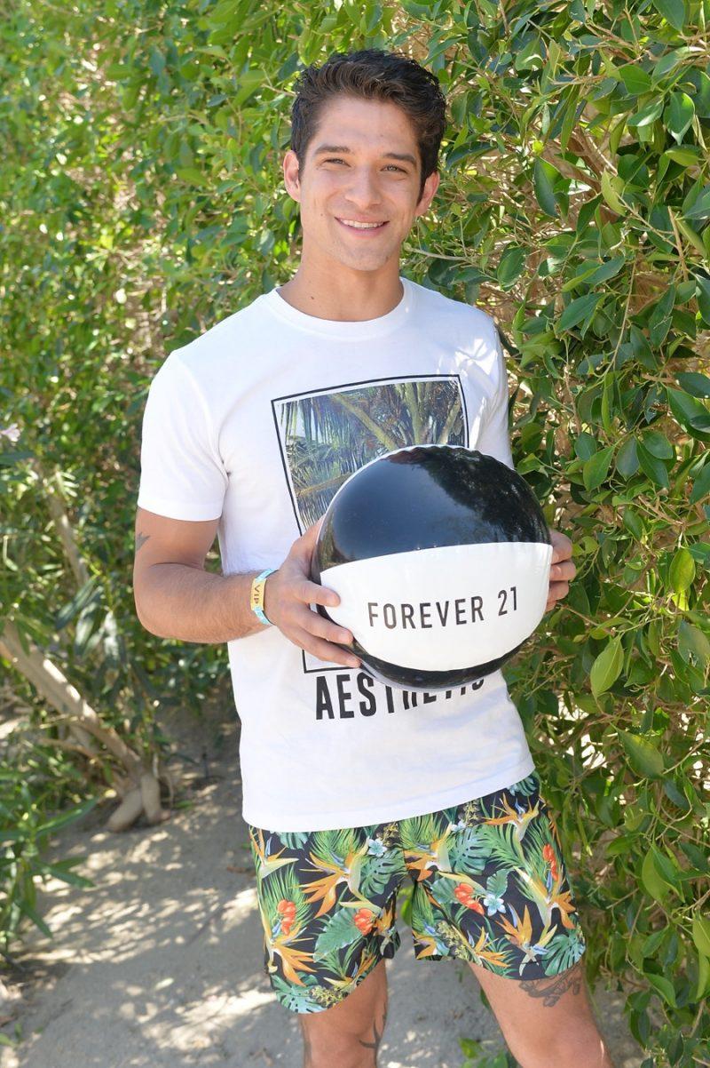 April 2016: Tyler Posey joins Forever 21 as the brand celebrates Coachella in La Quinta, California.