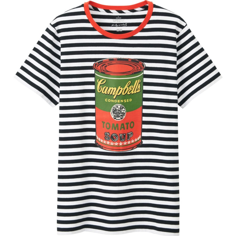 UNIQLO SPRZ NY Andy Warhol Campbell's Soup Stripe T-Shirt