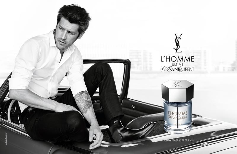 f91555ce934 Model Vinnie Woolston for Yves Saint Laurent L'Homme Ultime Eau de Parfum  Campaign