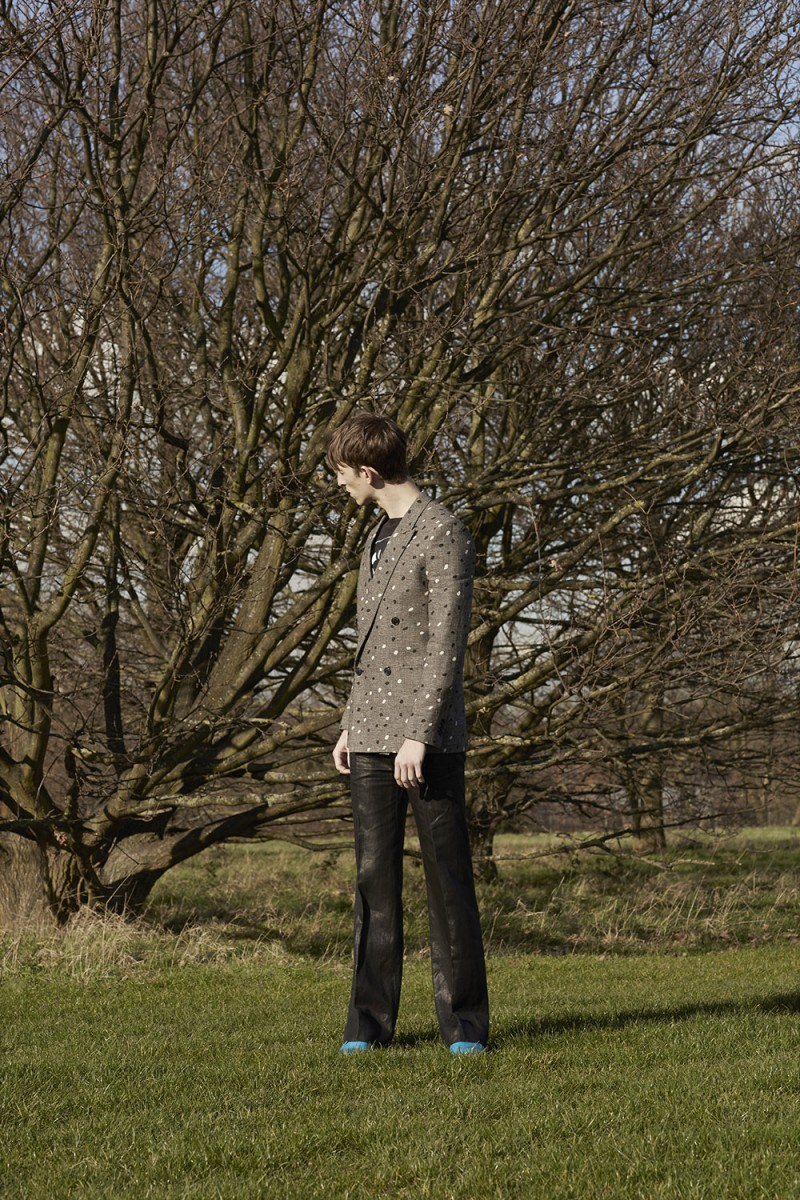 Max Townsend wears all clothes and leather creepers Paul Smith.