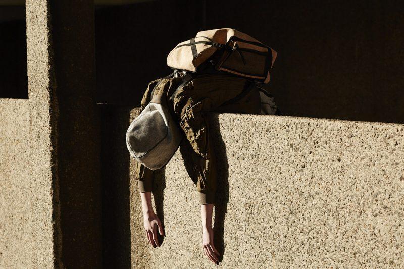 Wooyoungmi Grossgrain Strap-Detail Bomber Jacket and Christopher Raeburn Cork Backpack.