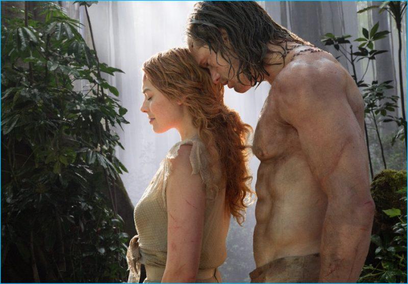 Jane (Margot Robbie) and Tarzan (Alexander Skarsgård) in The Legend of Tarzan.