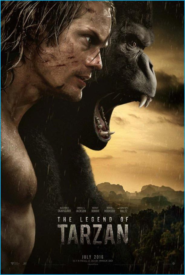 The Legend of Tarzan movie poster artwork featuring Alexander Skarsgård.
