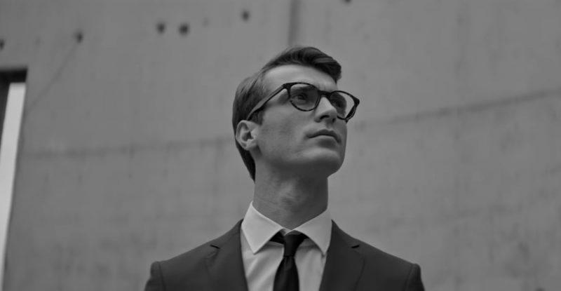 Still of Clément Chabernaud from BOSS' 2016 #masterthelight eyewear campaign.