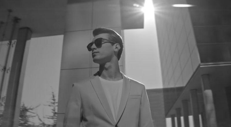 Still of Clément Chabernaud from BOSS' 2016 #masterthelight eyewear campaign featuring sunglasses.