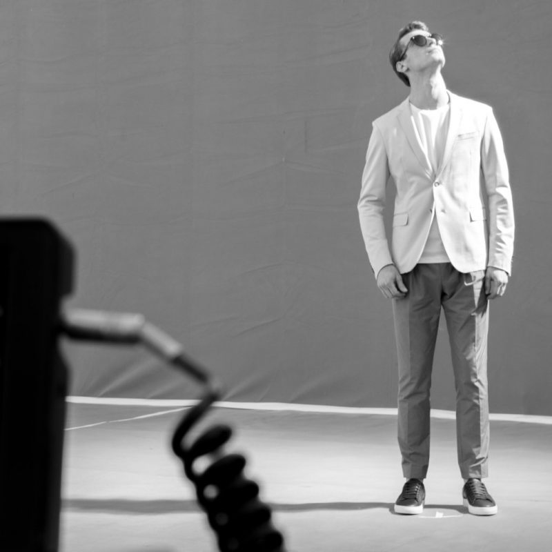 Behind the Scenes: Clément Chabernaud for BOSS 2016 eyewear campaign.