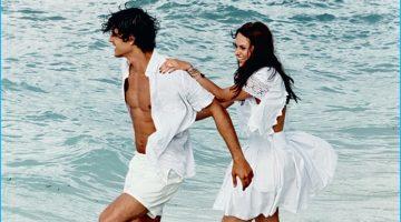 Wedding Bliss: Jorge Alano Models White Honeymoon Styles