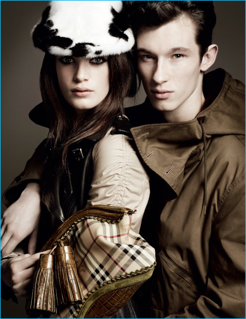 Callum Turner appears in Burberry's fall-winter 2011 campaign.