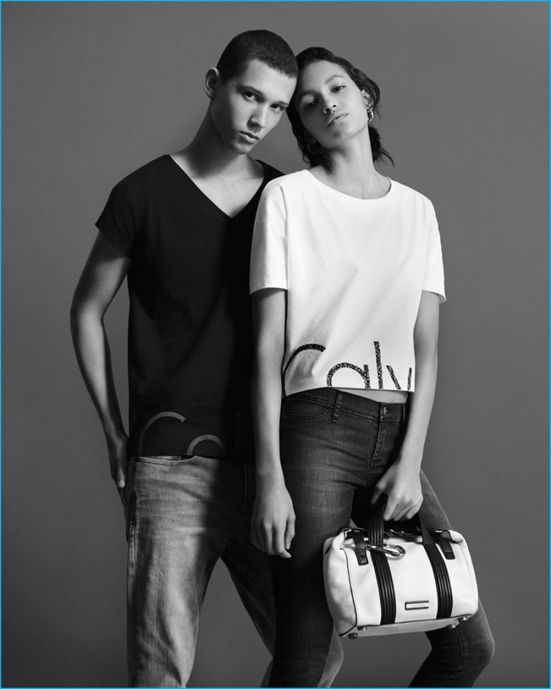 Abiah Hostvedt connects with Calvin Klein Jeans for its spring-summer 2016 outing.