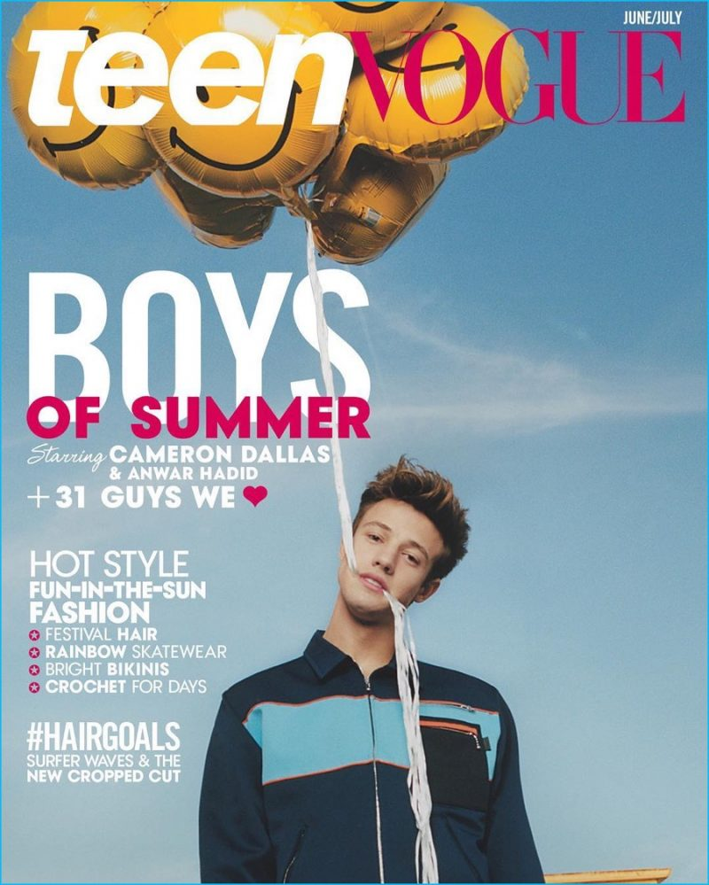 Cameron Dallas covers the June/July 2016 issue of Teen Vogue.