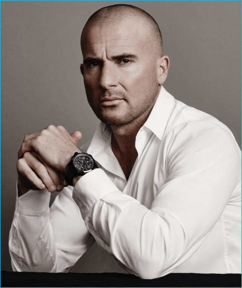 Dominic Purcell wears Bausele's Oceanmoon II timepiece for the brand's latest campaign.