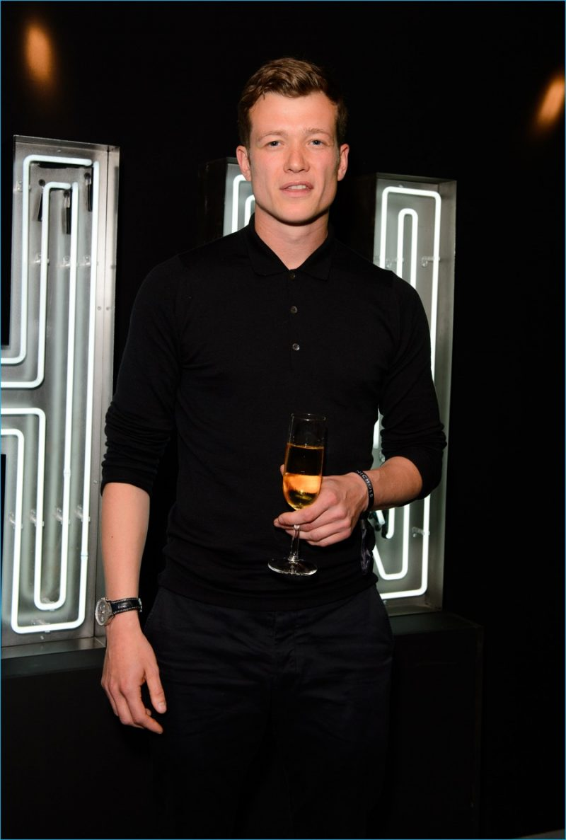 Ed Speleers attends Harvey Nichols' launch party.
