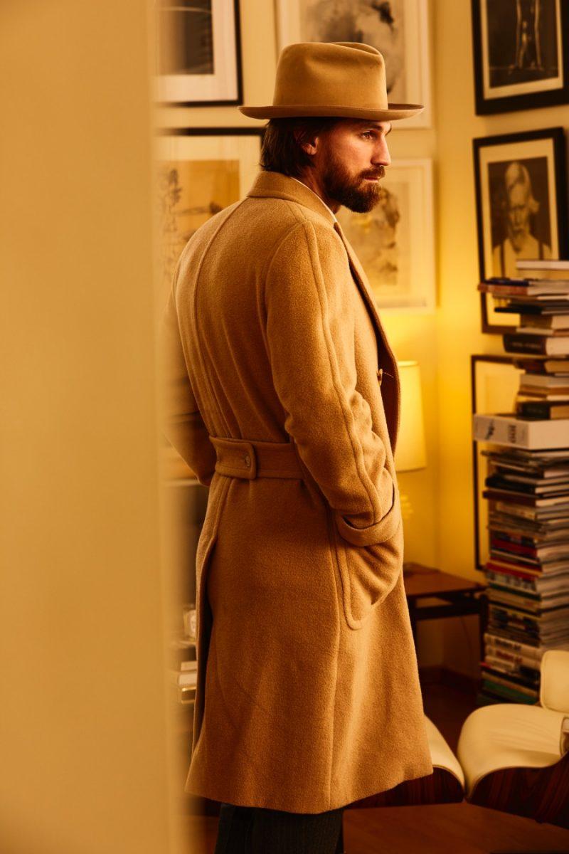 Henrik Fallenius pictured in a camel coat from Polo Ralph Lauren.