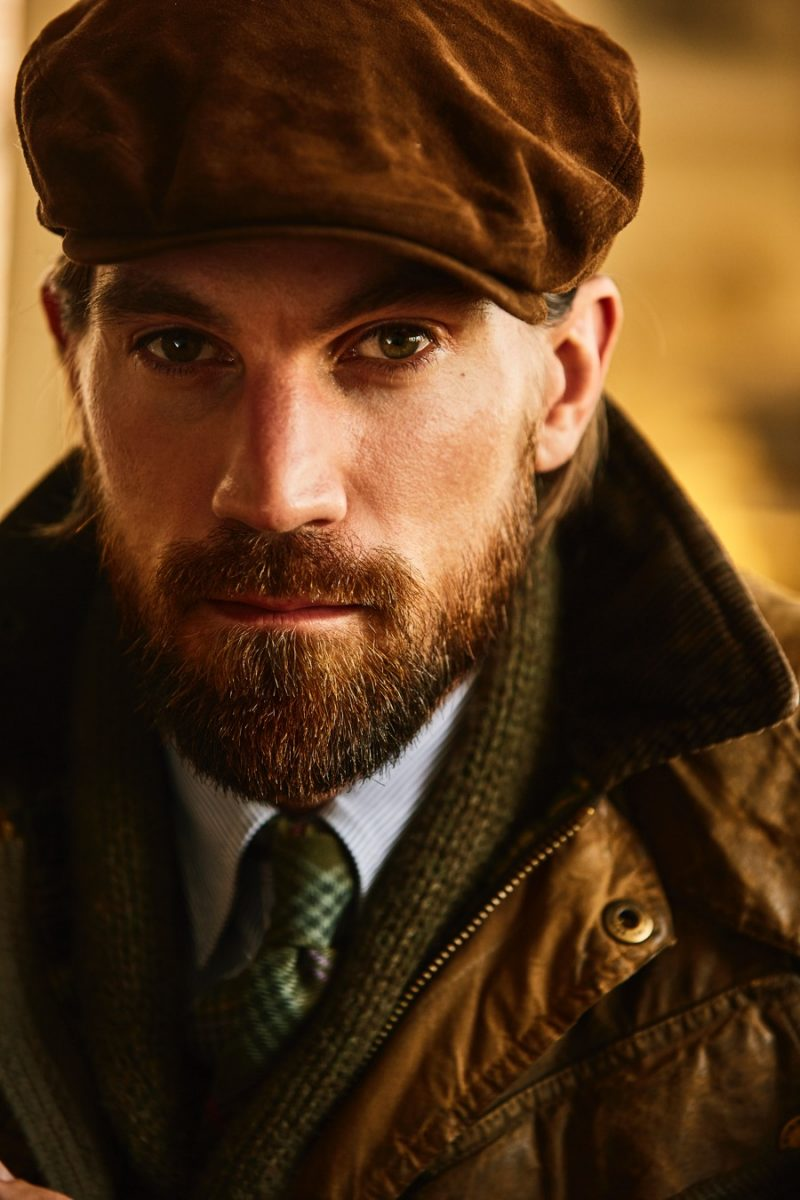 Henrik Fallenius is front and center in a charming fall look from Polo Ralph Lauren.